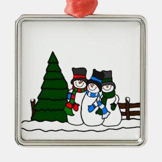 Christmas Winter Snowmen Friends Christmas Ornament