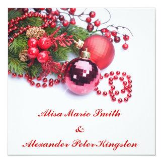 Christmas Winter Wedding invitations Announcements