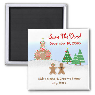 Christmas / Winter Wedding Save The Date Magnet