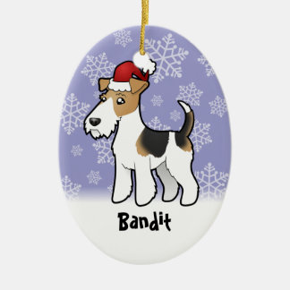 Christmas Wire Fox Terrier Christmas Ornament