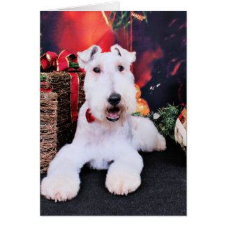 Christmas - Wire Fox Terrier - Dexter Greeting Card