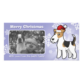 Christmas Wire Fox Terrier Photo Cards