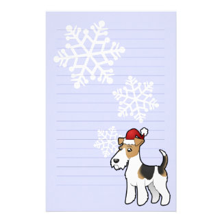 Christmas Wire Fox Terrier Stationery