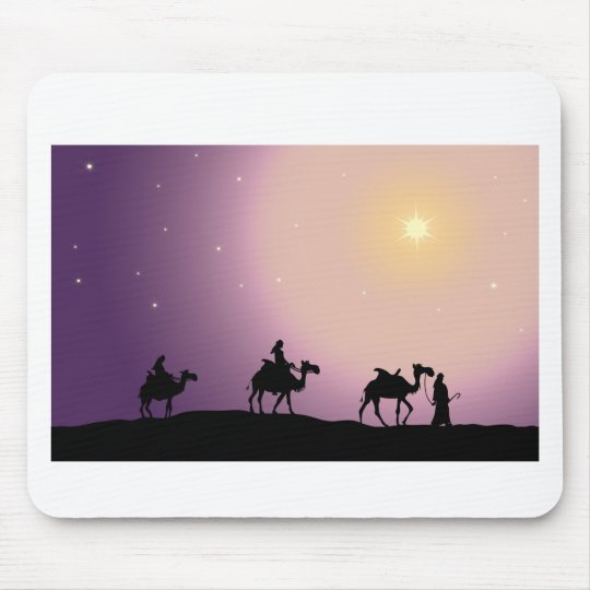 Christmas Wise Men Mouse Mat