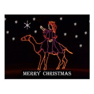 Christmas WIseman Star Camel ZZ H 2016 Postcard