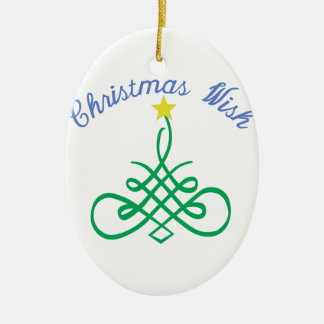 Christmas Wish Ceramic Oval Decoration