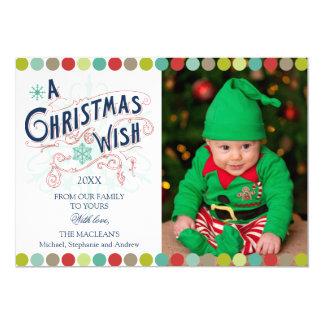 Christmas Wish Holiday Groupon Photo Cards 13 Cm X 18 Cm Invitation Card
