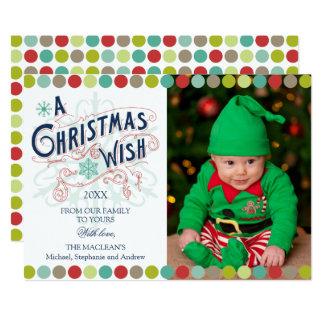 Christmas Wish Holiday Photo Card 13 Cm X 18 Cm Invitation Card