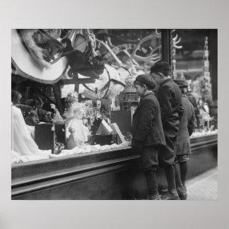 Christmas Wish List, 1920s Poster