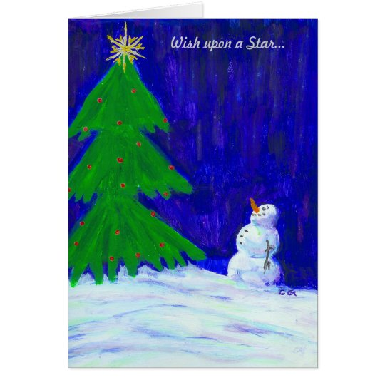 Christmas, Wish upon a StarHoliday Card