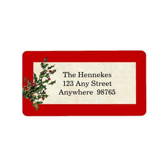 Christmas Wishes Address Label