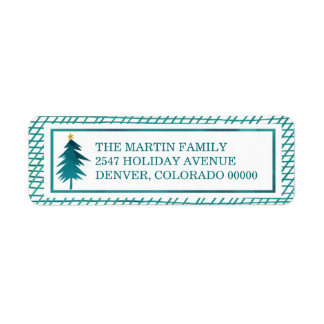 Christmas Wishes by The Spotted Olive Holiday Return Address Label