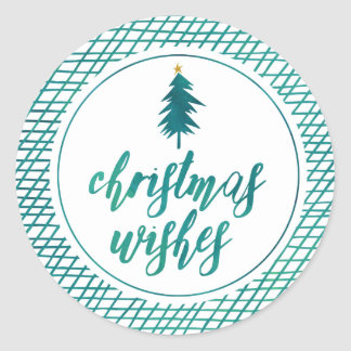 Christmas Wishes by The Spotted Olive Holiday Round Sticker
