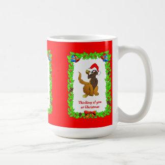 Christmas wishes, Cat Santa Basic White Mug