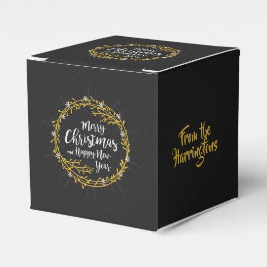 Christmas Wishes custom name favour box