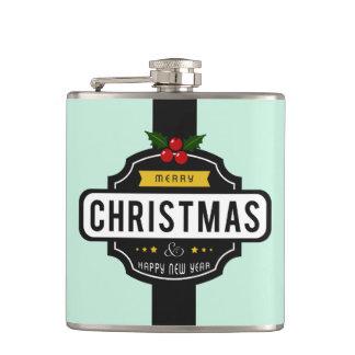 Christmas Wishes custom name flask
