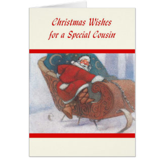 Christmas Wishes for a Special Cousin Card