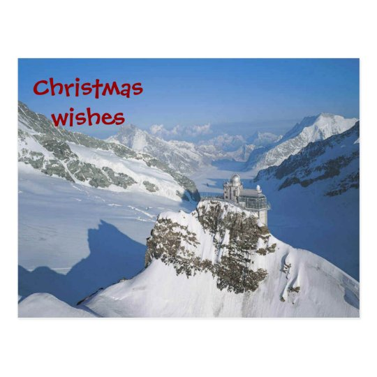 Christmas wishes from the top of Europe Postcard