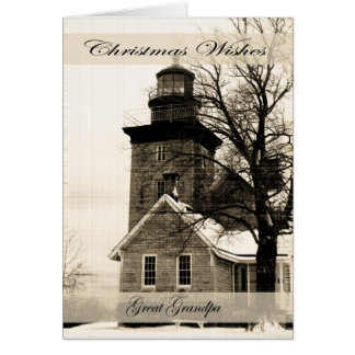 Christmas Wishes Great Grandpa Greeting Card