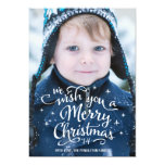 Christmas Wishes | Holiday Photo Card 13 Cm X 18 Cm Invitation Card