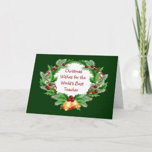 Gift card christmas wreath for teacher
