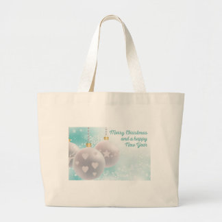 Christmas wishes large tote bag