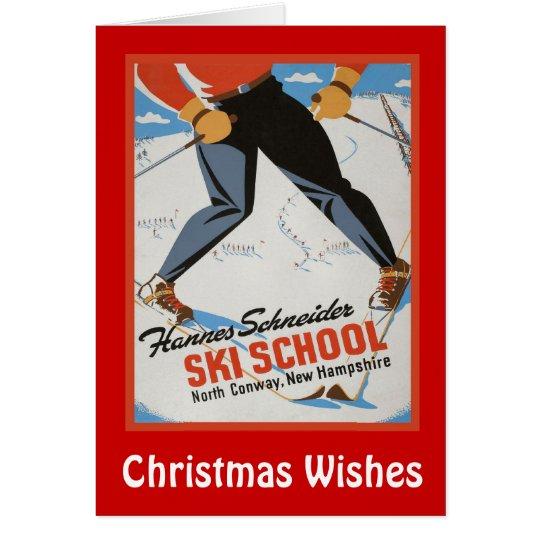 Christmas Wishes,Les Ski School Card