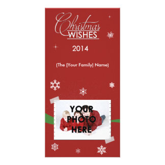 Christmas Wishes Personalized Family Photo Card