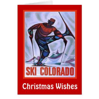 Christmas Wishes, Ski colorado Card