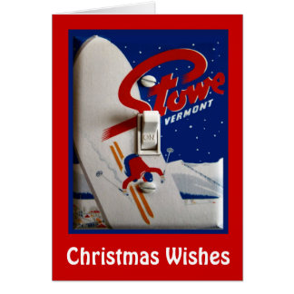 Christmas Wishes, Stowe, Vermont Card