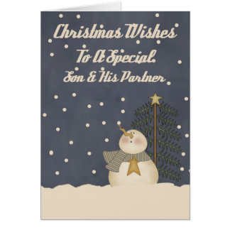 Christmas Wishes To A Special Son & Partner Greeting Card