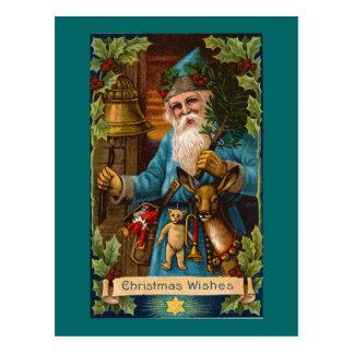 Christmas Wishes Vintage Holiday Art Postcard