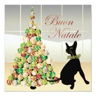 Christmas with Bella Italian Card/Invitation 13 Cm X 13 Cm Square Invitation Card