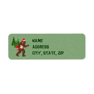 """Christmas with Bigfoot"" Return Address Label"