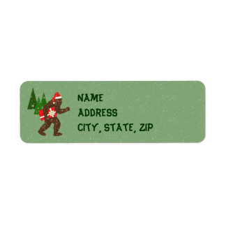 """Christmas with Bigfoot"" Return Address Label"