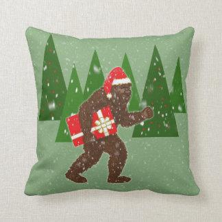 """Christmas with Bigfoot"" Throw Pillow"