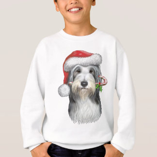 Christmas With Jazz The Bearded Collie Sweatshirt