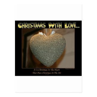 Christmas With Love Postcard