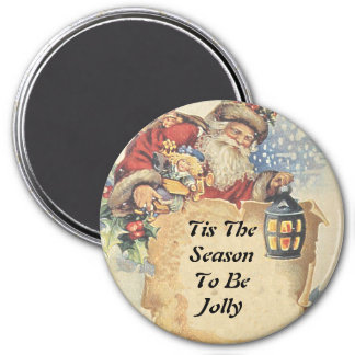 Christmas With Santa Claus. Customizable Items. 7.5 Cm Round Magnet