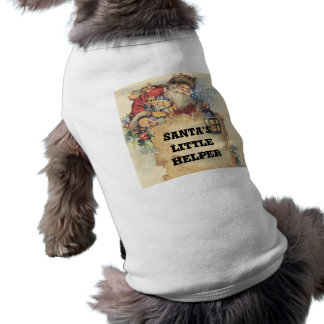 Christmas With Santa Claus. Customizable Items. Sleeveless Dog Shirt