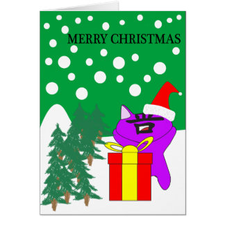 CHRISTMAS WITH SHAN CAT CARD
