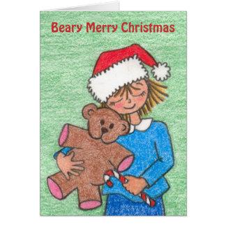 Christmas with Teddy, teddy bear. Greeting Card