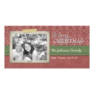 Christmas - with vintage photo border - picture card