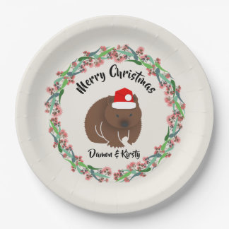 Christmas Wombat Paper Plate