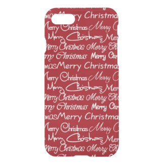 Christmas word art pattern iPhone 7 uncommon case