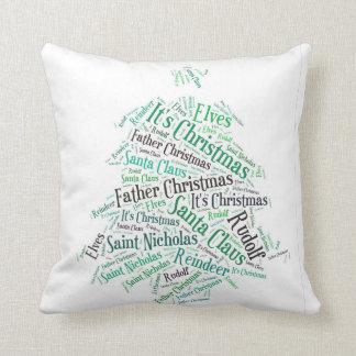Christmas Word Cloud Cushion