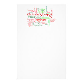 Christmas Word Cloud Stationery