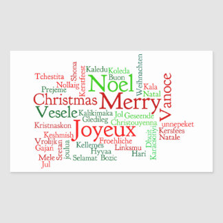 Christmas Word Cloud Sticker