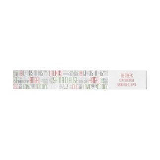 Christmas Words Wrap Around Label- Holidayzfordayz Wrap Around Label