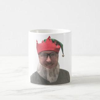 Christmas working elf coffee mug